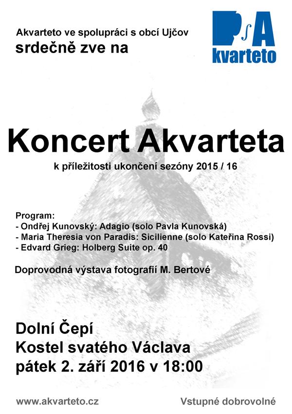 Plakátek na koncert 2.9.2016