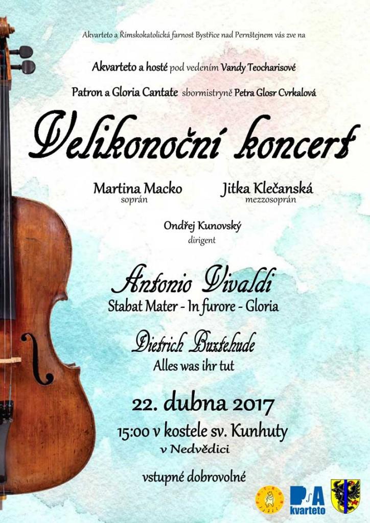 Velikonoční koncert Akvarteta Nedvědice
