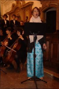 Alžběta Symerská na koncertu Akvarteta