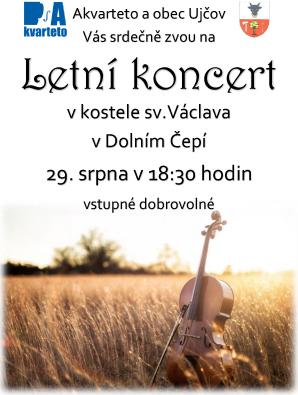letní koncert - letáček