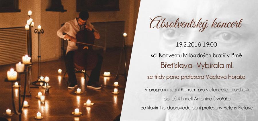 Pozvánka na absolventský koncert Břetislava Vybírala ml.