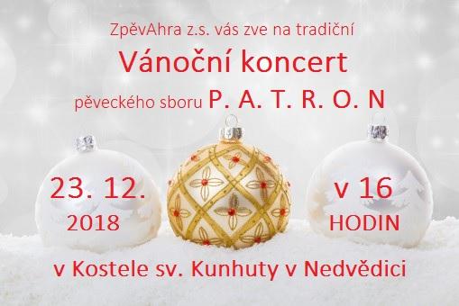 Vánoční koncert PATRON