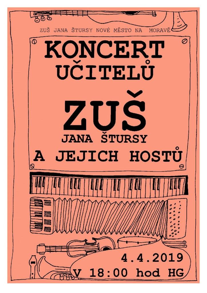 Pozvánka na koncert učitelů 2019
