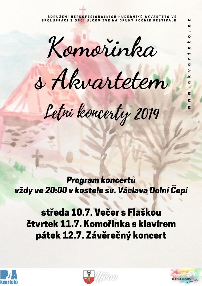 Komořinka s Akvartetem 2019: pozvánka