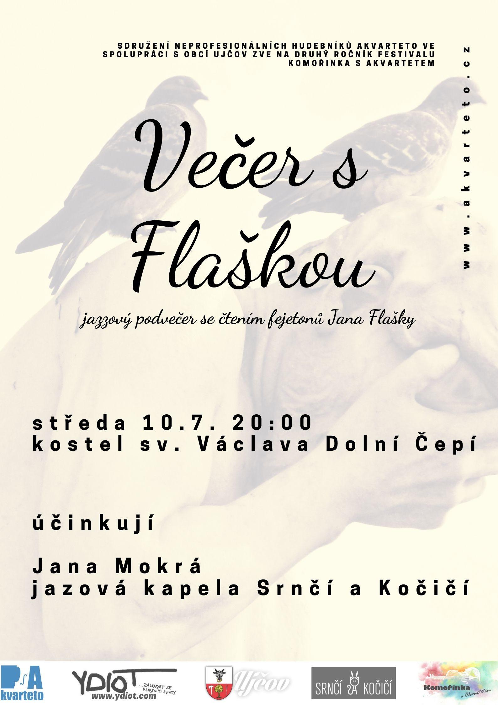 Komořinka s Akvartetem 2019: Večer s Flaškou