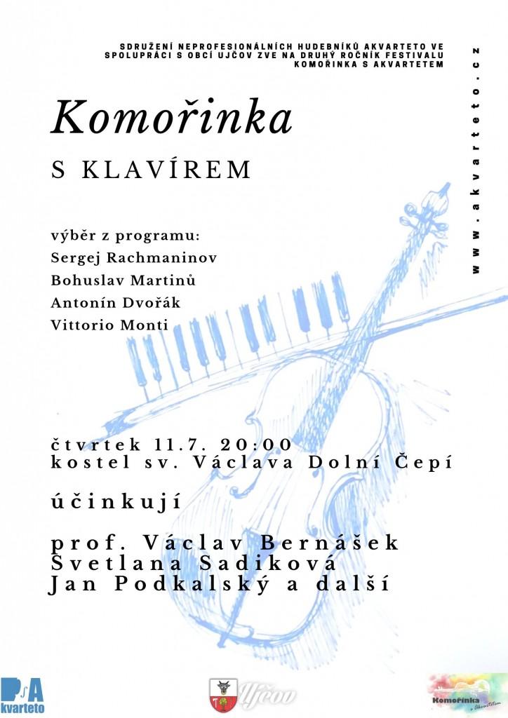 Komořinka s Akvartetem 2019: Komořinka s klavírem