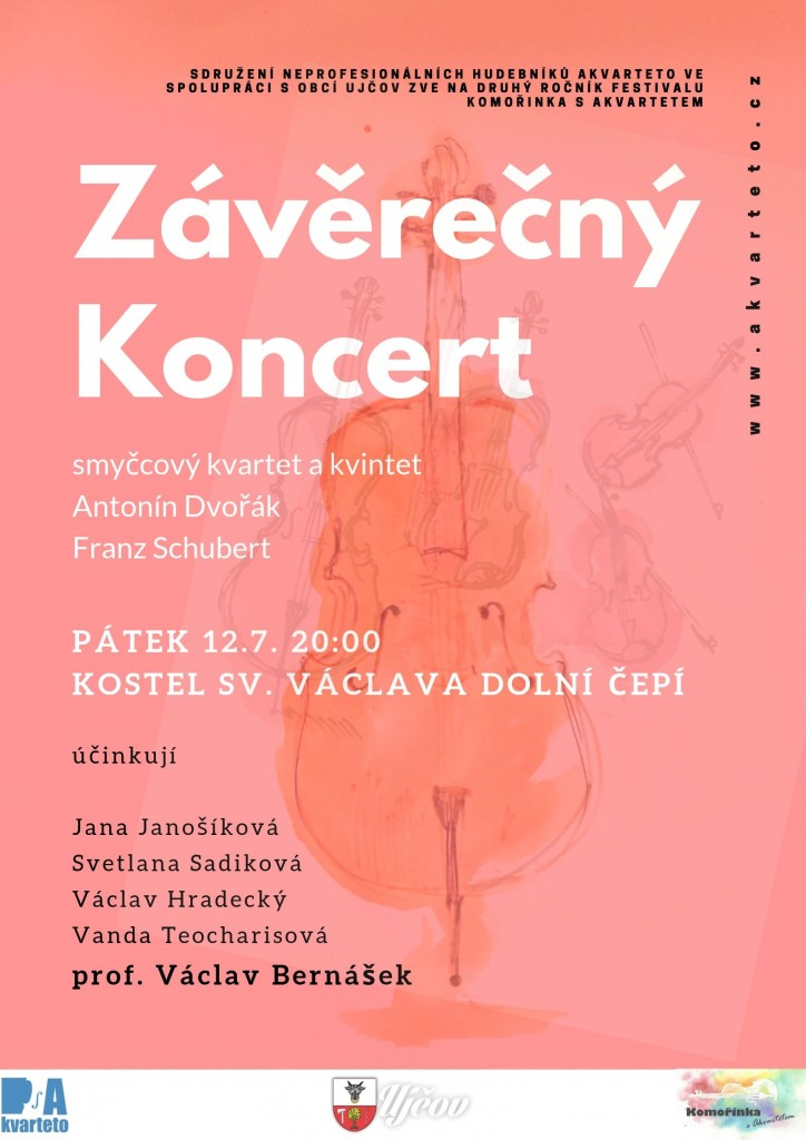 Komořinka s Akvartetem 2019: závěrečný koncert