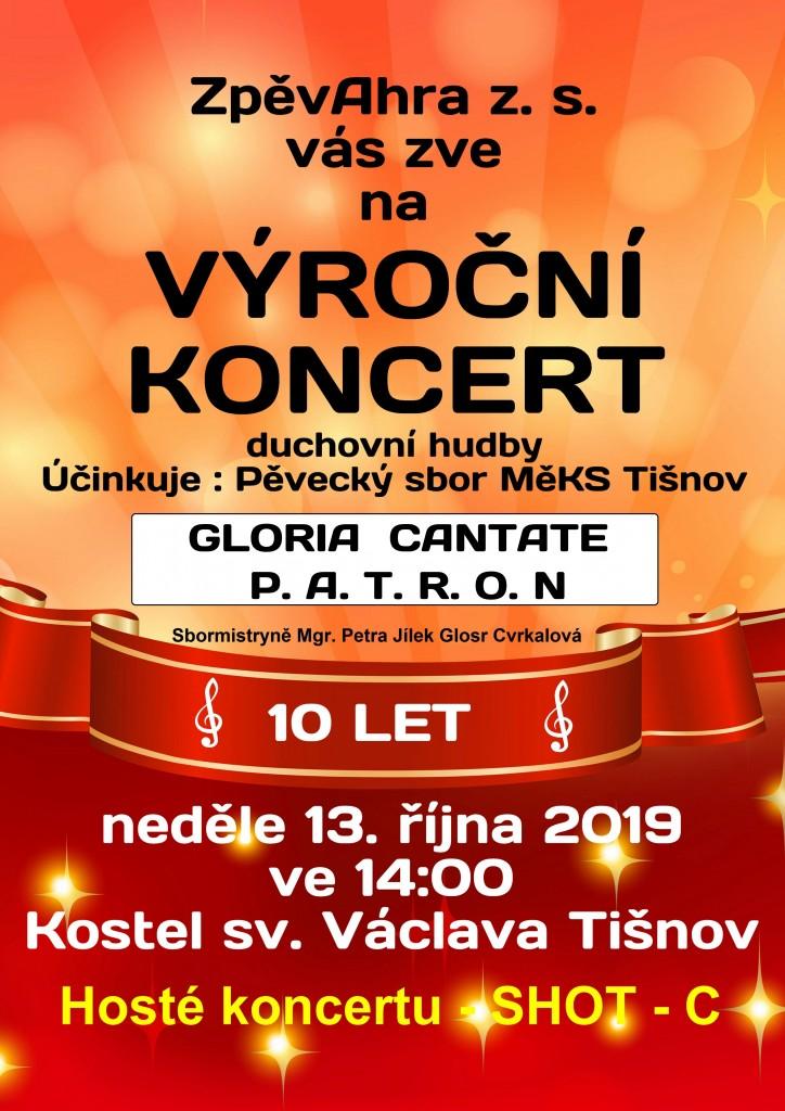 Koncert 10 let plakát Nedvědice Tišnov oficiál
