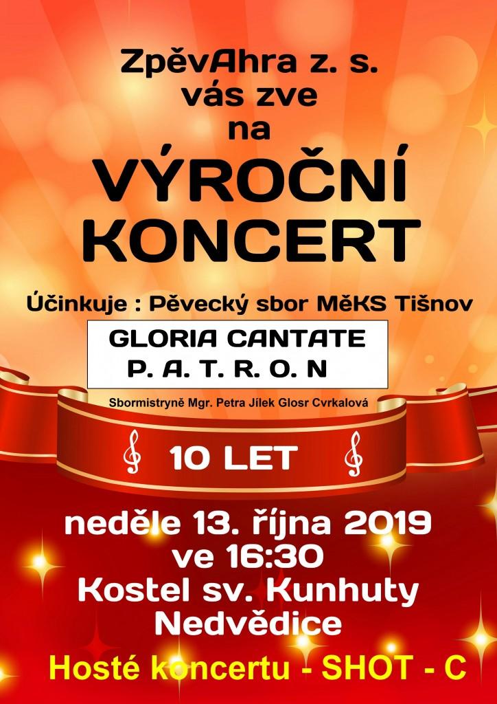 Koncert 10 let plakát Nedvědice finální verze