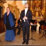 Paní Martina Macko a pan Ondřej Kunovský na koncertu Akvarteta