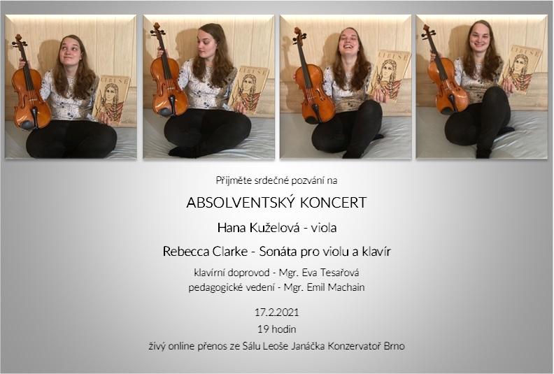 viola pozvánka na absolventský koncert